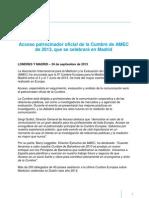 Madrid Sera Sede de La Cumbre de AMEC 2013