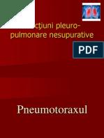 Afecţiuni pleuro-pulmonare nesupurative