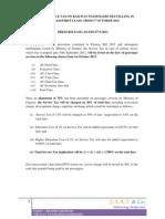 Service Tax on Railway Fare - PASSENGER