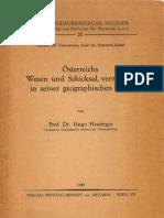 Hugo Hassinger_Österreichs Wesen und Schicksal verwurzelt in seiner geographischen Lage_Wien 1949