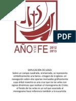 1.- LOGO AÑO DE LA FE Y EXPLICACIÓN