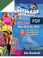 2012 Rite Aid Cleveland Marathon Results Book