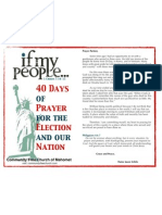 40 Days Election Prayer