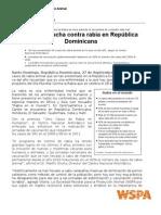 Datos Avance Lucha contra la Rabia en República Dominicana