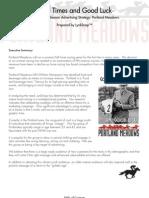 2012 Portland Meadows Campaign Proposal