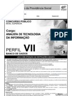 Cespe 2006 Dataprev Analista de Tecnologia Da Informacao Banco de Dados Prova