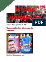 Noticias Uruguayas Viernes 28 de Setiembre Del 2012