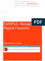 Sample Managing Digital Channels Best Practice Guide SAMPLE