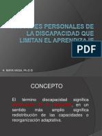 Factores Personales de La Discapacidad Que Limitan El Aprendizaje