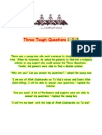 Three Tough Questions ( Islamic Story For - Not Only - Kids )