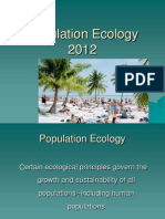 Lecture Population Ecology 2012
