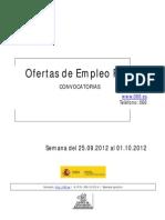Boiletin Semanal Empleo Publico. Semana Del 25.09.2012 Al 01.10