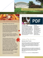 Hannibal Country Club October Newsletter
