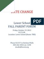 fall parent forum