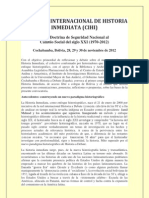 Congreso Internacional de Historia Inmediata (Cihi)