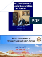Recent Developments of Uranium Exploration in Jordan, Ned Xoubi, 2008