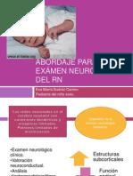 Abordaje para el exámen neurológico del RN