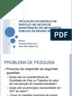 APLICAÇÃO DO MODELO DE WESTLEY NO SETOR DE MANUTENÇÃO DE UM HOSPITAL PÚBLICO DA REGIÃO DE BAURU