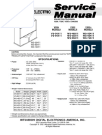 Service Manual - Mitsubishi Projection TV - Chassis V20A,C,C+