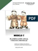 Modelo T aplicación