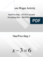 Solving Equations Wager Activity PowerPoint