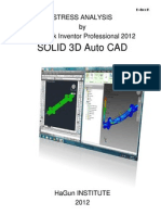 Stress Analysis by Autodesk Inventor 2012 Object 3D Auto CAD