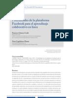 Posibilidades de la plataforma Facebook para el aprendizaje colaborativo en línea