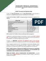 Calendario de Inscripciones II-2011
