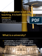 Higher Education is not only research