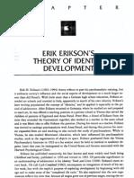 Erik H. Erikson Teoria Do Desenvolvimento Da Identidade