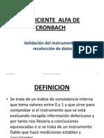 Validacion Instrumentos Alfa de Crombach