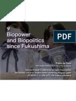 Biopower and Biopolitics Since Fukushima