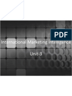 International Marketing Intelligence Unit-3