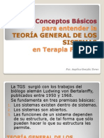 TEORÍA GENERAL DE LOS SISTEMAS EN TERAPIA FAMILIAR