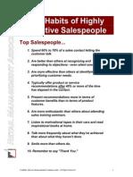 10 Habits of Effective Salespeople
