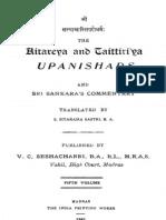 Aitareyataittiriya Upanishads With Shankara Bhashya English