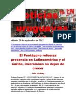 Noticias Uruguayas sábado 29 de setiembre del 2012