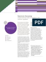 SWIFT Sanctions Screening Factsheet