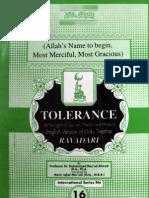 Tolerance by - Dr.Muhammad Masoud Ahmad