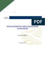 Managementul Reclamatiilor Carmen Balan
