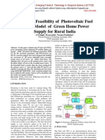 Technical Feasibility of  Photovoltaic Fuel  Cell