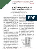 Analysis of Web Information Gathering  Based on Sketch Image Retrieval System