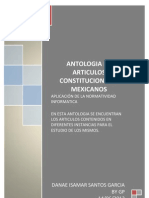 Antologia de Articulos Constitucionales Mexicanos