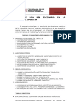 Manual de Uso Del Escenario en La Plataforma Open Sim
