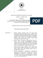 Pp No 1 Th 2009 Ttg Perubahan Ke-Vi Atas Pp No 14 Th 1993 Ttg Penyelenggaraan Program Jamsostek