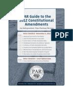 2012 Constitutional Amendments PAR