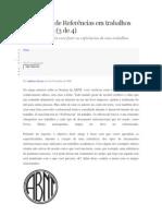 Elaboração de Referências - Normas da ABNT