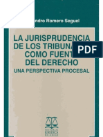 Jurisprudencia Como Fuente - A. Romero S