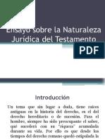 Ensayo sobre la Naturaleza Jurídica del Testamento