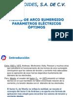Horno de Arco Sumergido Parametros Electricos Optimos